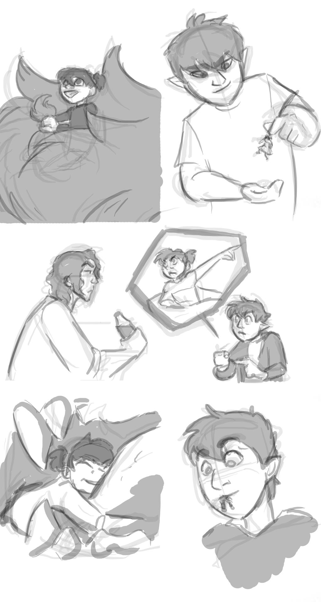 SketchPage|Kid!Killian+Mandy by mistress0minx