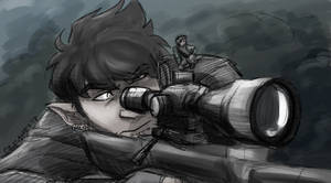 Sniper|Tinted Sketch Commission