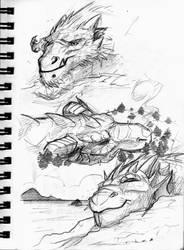 SKETCHBOOK Hecka Big Dragons 3