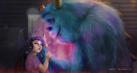 Boo and Sully Monsters Inc - 2018