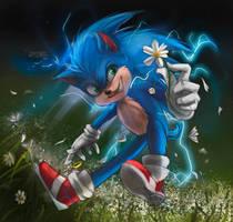 Sonic 2020 Fanart by Itzel-Nahomy