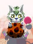Chibi Byakko Cookie love by DarkColorBlood