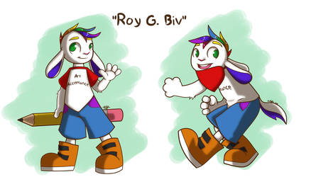 Roy G. Biv - Mascot Idea by Siamese712