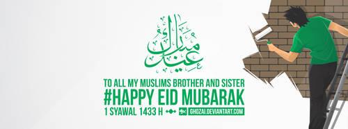 happy eid mubarak 1433H by ghozai