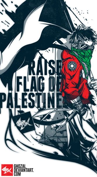 Raise flag of palestine V2 by ghozai