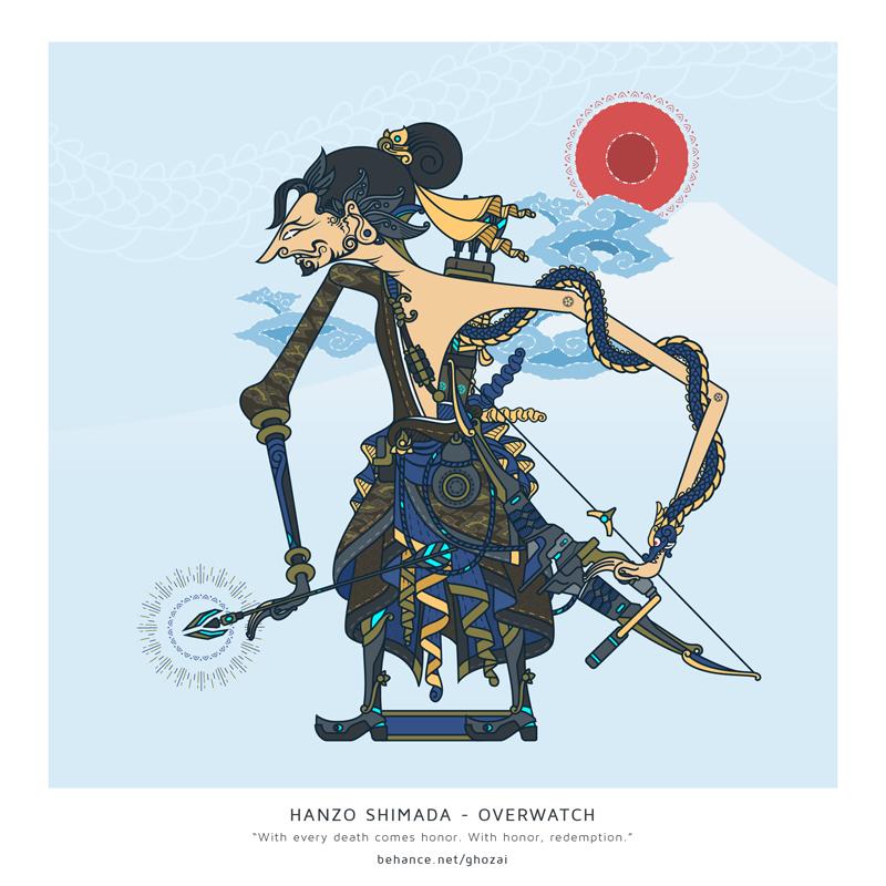 Hanzo Shimada - wayang by ghozai