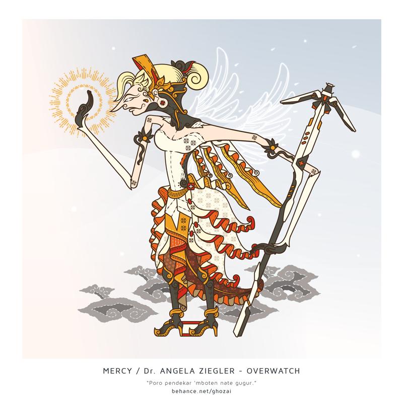 Mercy Angela Ziegler - wayang by ghozai