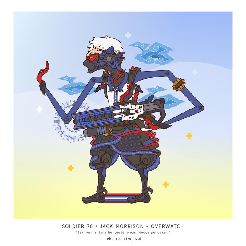 Soldier 76 / Jack Morrison wayang by ghozai