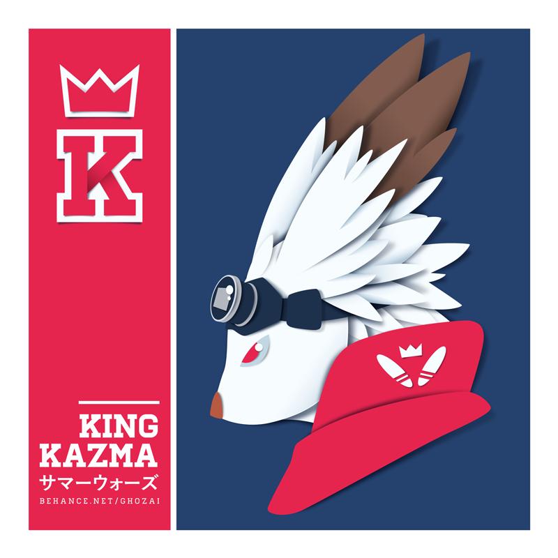 King Kazma papercut by ghozai