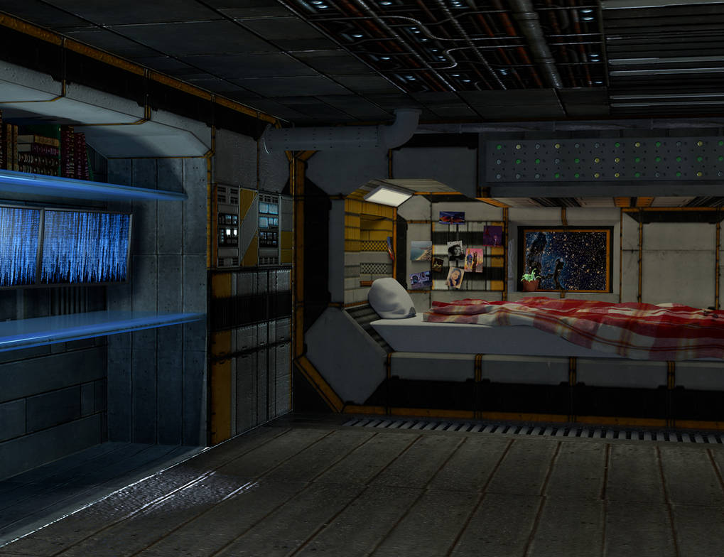 2015 Space Ship Sleeping Quarters By Necril On Deviantart