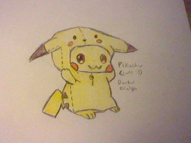 Cute Pikachu with hoodie :3 by DarkusDialga