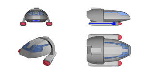 Lancaster-type Shuttlecraft Orthographics