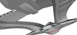 Akira-class 3D Model (WIP) Aft View (Light Colors)
