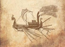 Air Drakkar concept by Leliumoj
