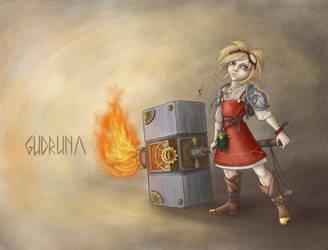 Steam viking girl by Leliumoj