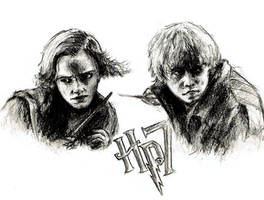 Ron Hermione HP7 by MakingPicsSlowly