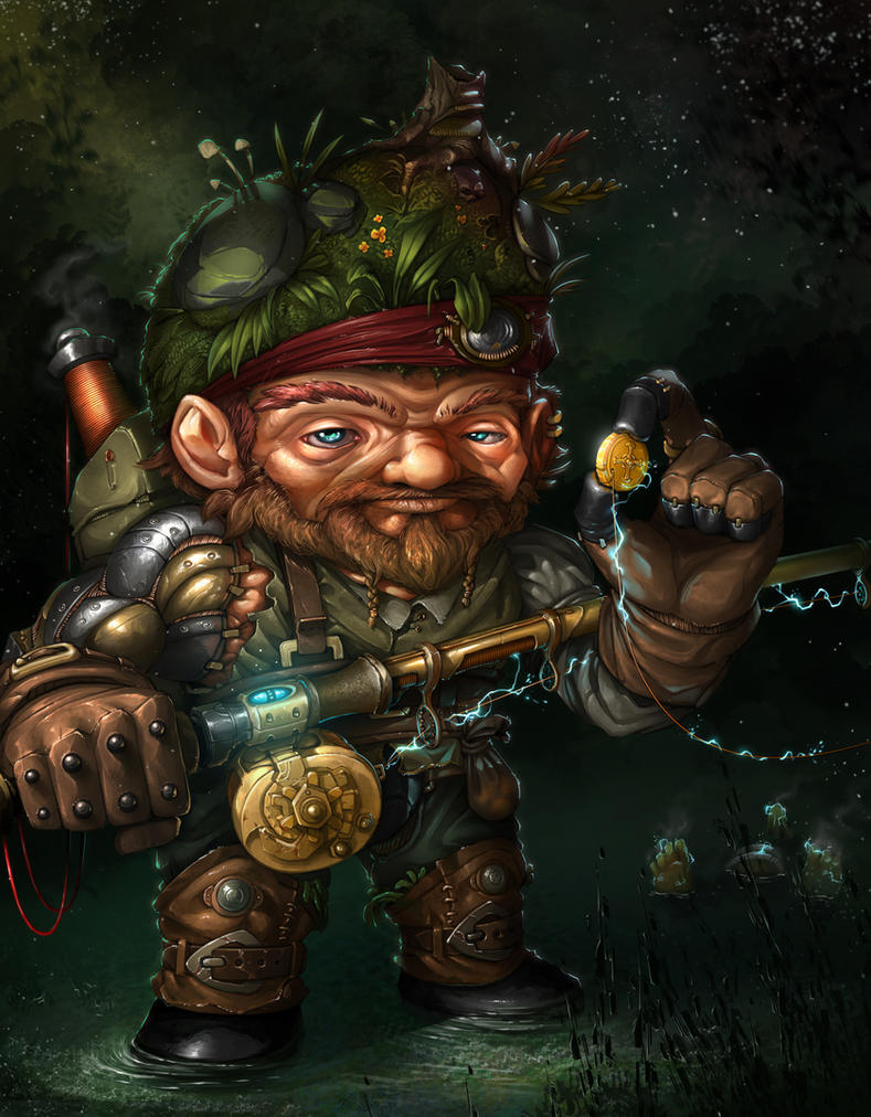 Gnome Shock Fisher by MakingPicsSlowly