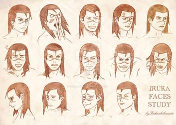 Iruka faces study by kakashibonato