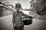 Old woman - Still working