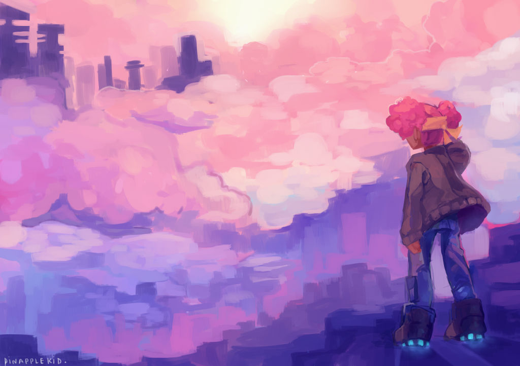 clouds by pinapplekid
