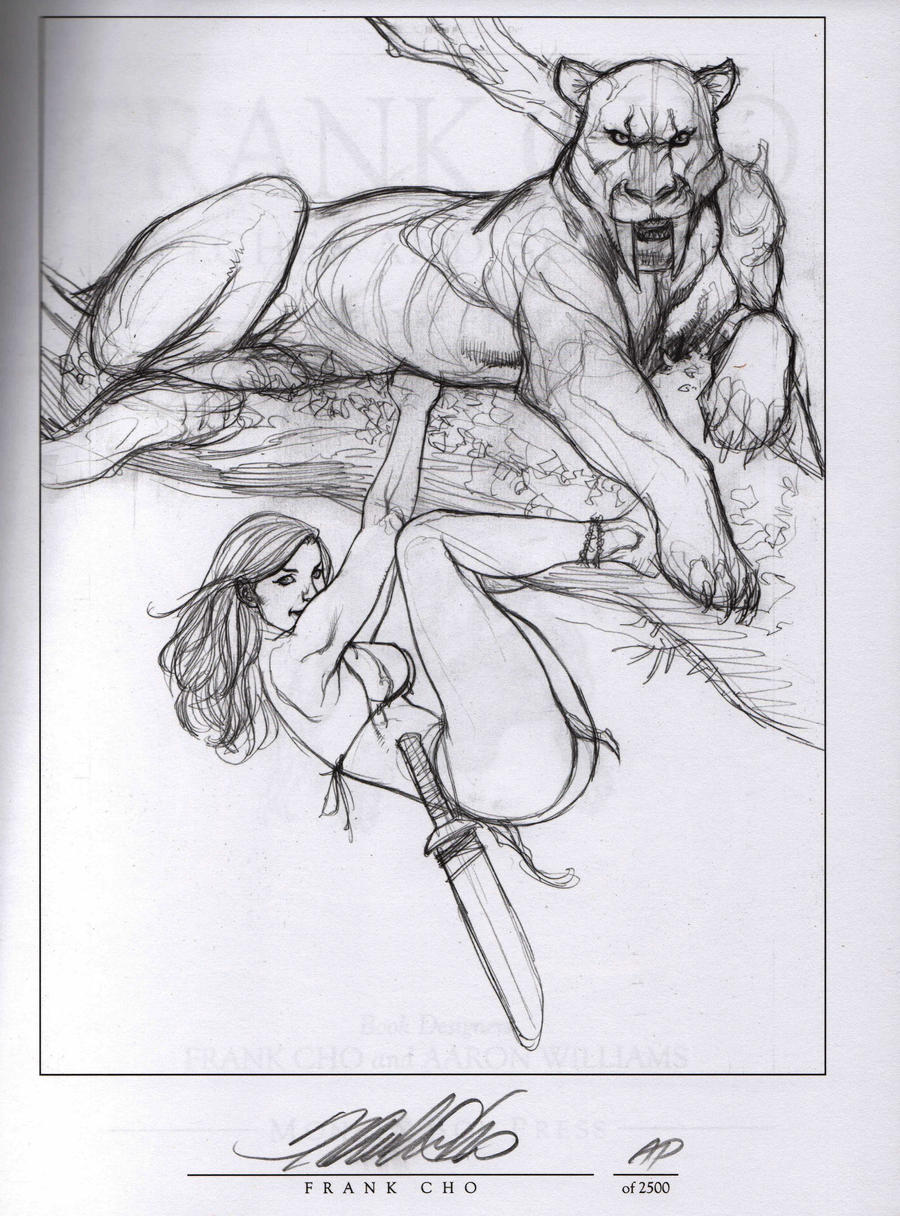 Scribbles Drawing Book : Frank cho sketches and scribbles book by breizh ankou on