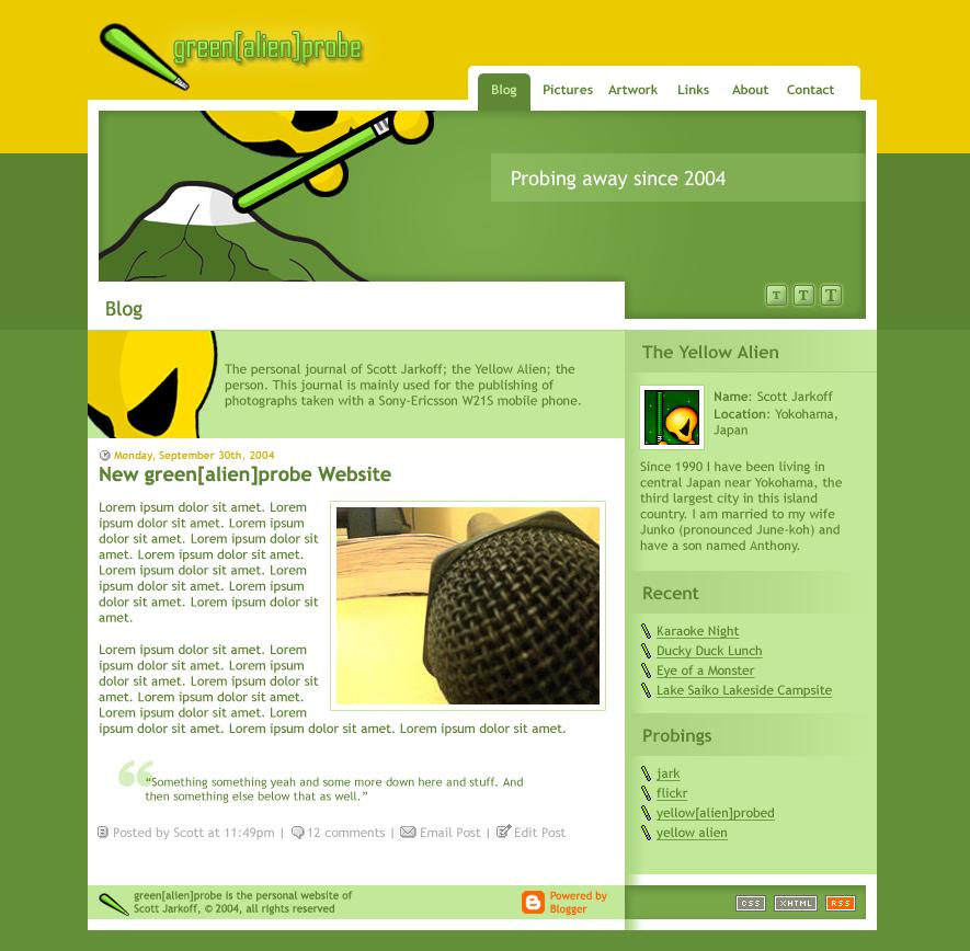 greenprobe Website Design by splat