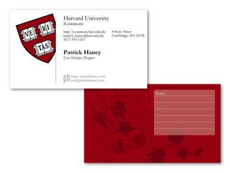 Harvard Business Card Mockup