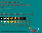 Sonic Colors Crabmeat sprites