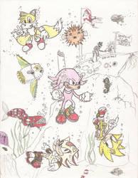 Sonic Undersea Adventure new by PicsAndPixels