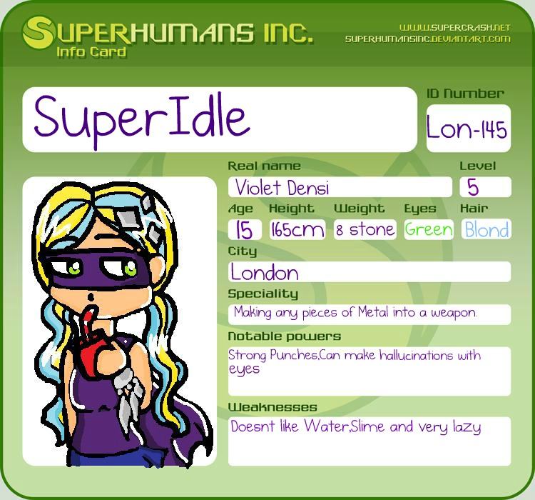 id card superidle by luigipony on deviantart