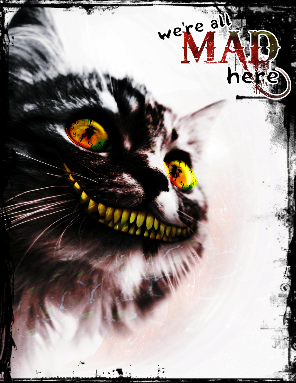 We're All Mad - Cheshire Cat by nenalinda82pr