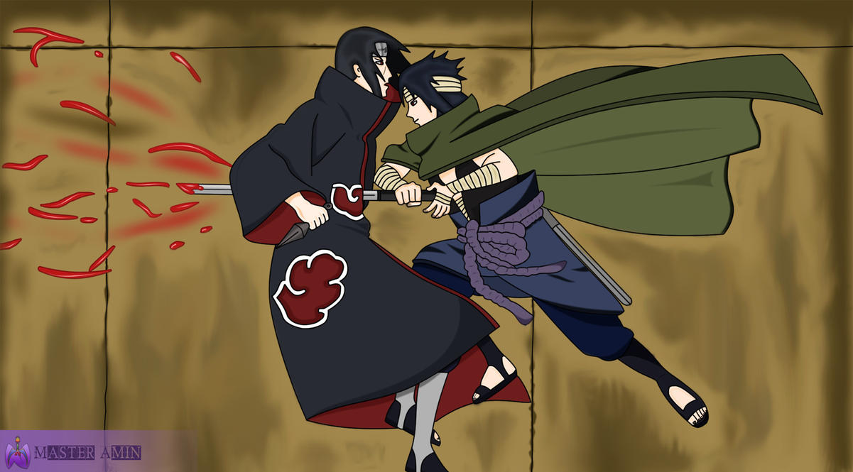 Itachi Vs Sasuke By MasterAmin On DeviantArt