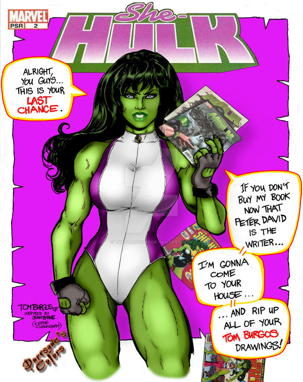 She-Hulk Homage Cover by THE-Darcsyde