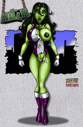She-Hulk by Jeff Egli Art by THE-Darcsyde