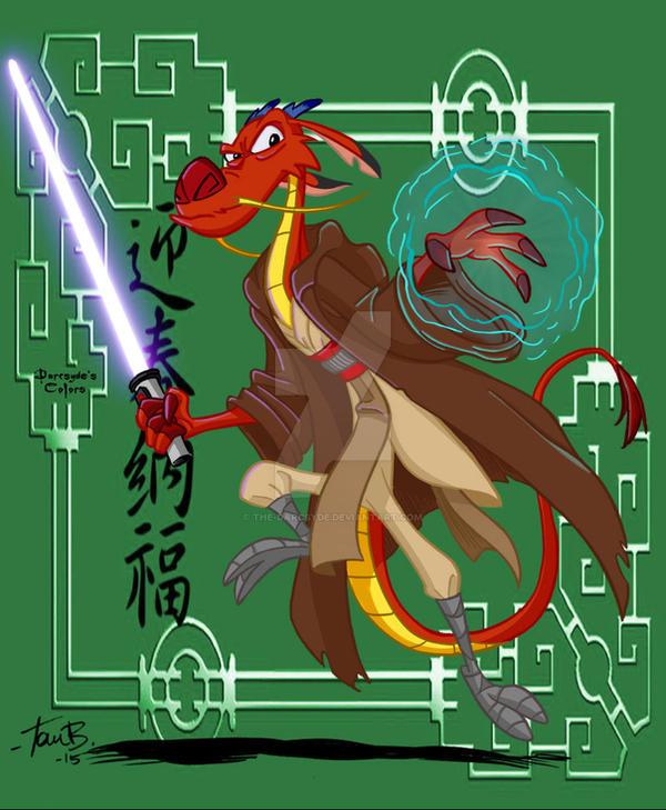 Jedi Mushu by Tom Bancroft by THE-Darcsyde