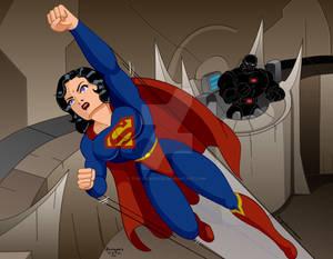 Superwoman vs Mongul 21 by Rogelioroman