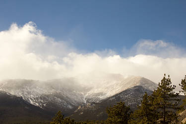 Mountain Shot With Clouds by K4GIT
