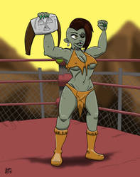 Post-Apocalyptic Champ by oldandjinxed