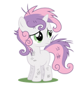 Sweetie Belle with disheveled mane