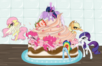 Mane 6 in cake (CE) by BeamyButt