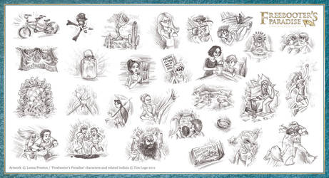 Freebooter's Paradise Chapter Illustrations