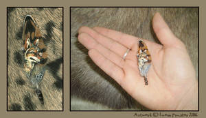 'Coyote' Small Feather by Leopreston