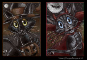 Halloween ACEOs by Leopreston