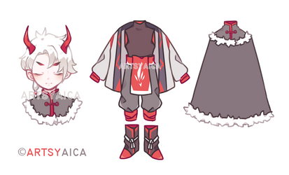 [CLOSED] Auction Crimson Wayfarer by ArtsyAica