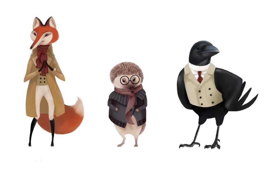De Vos en de Raaf characters by Jumei