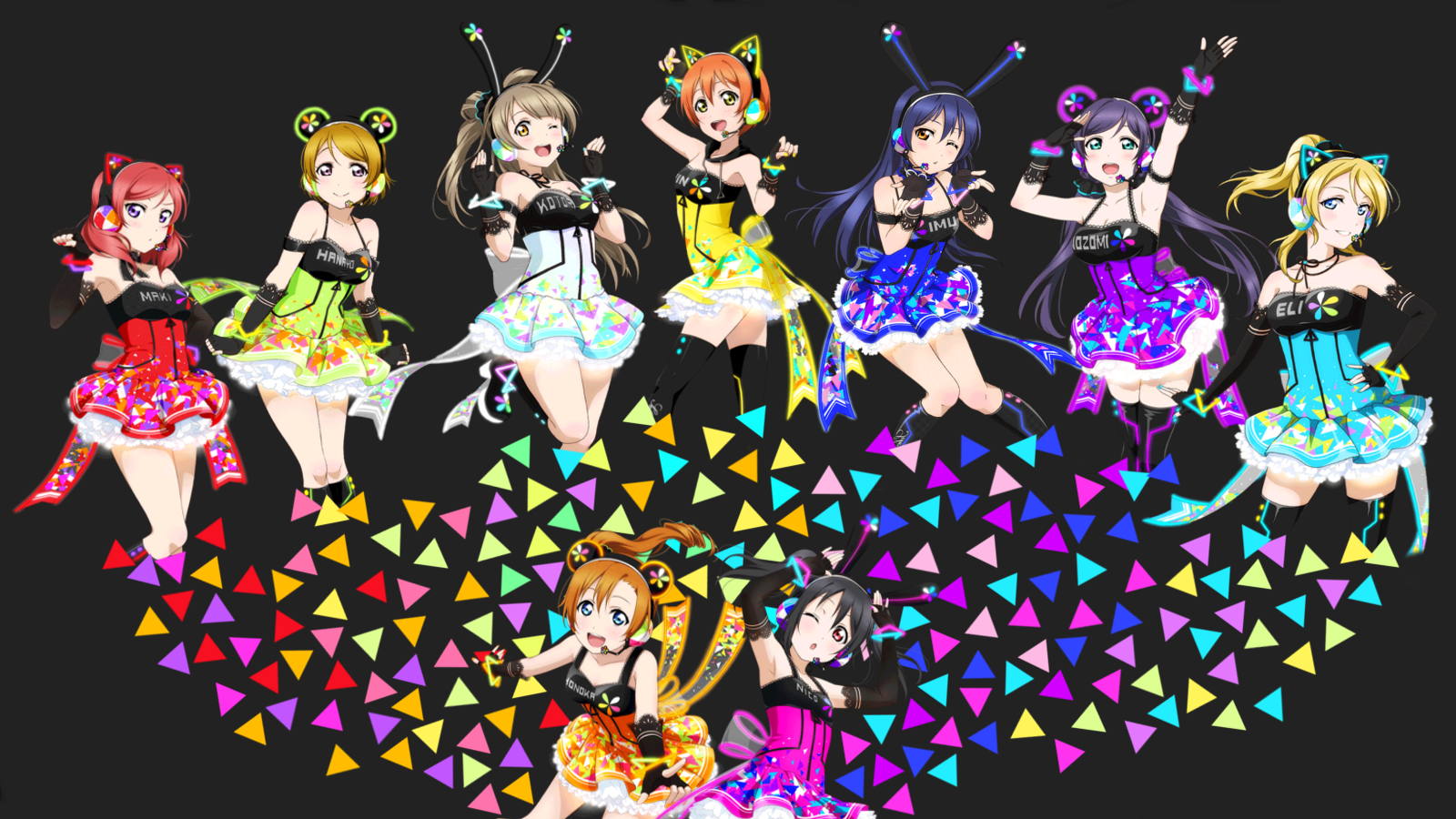 Muse Cyber Wallpaper By GoldenBeato Love Live
