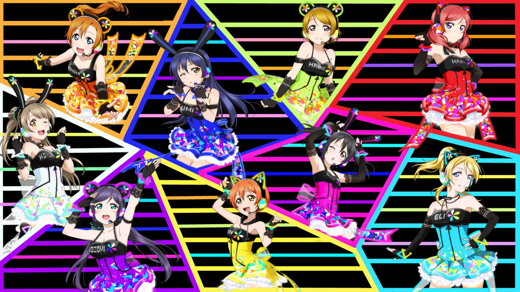 Love Live Muse Cyber Wallpaper Ver