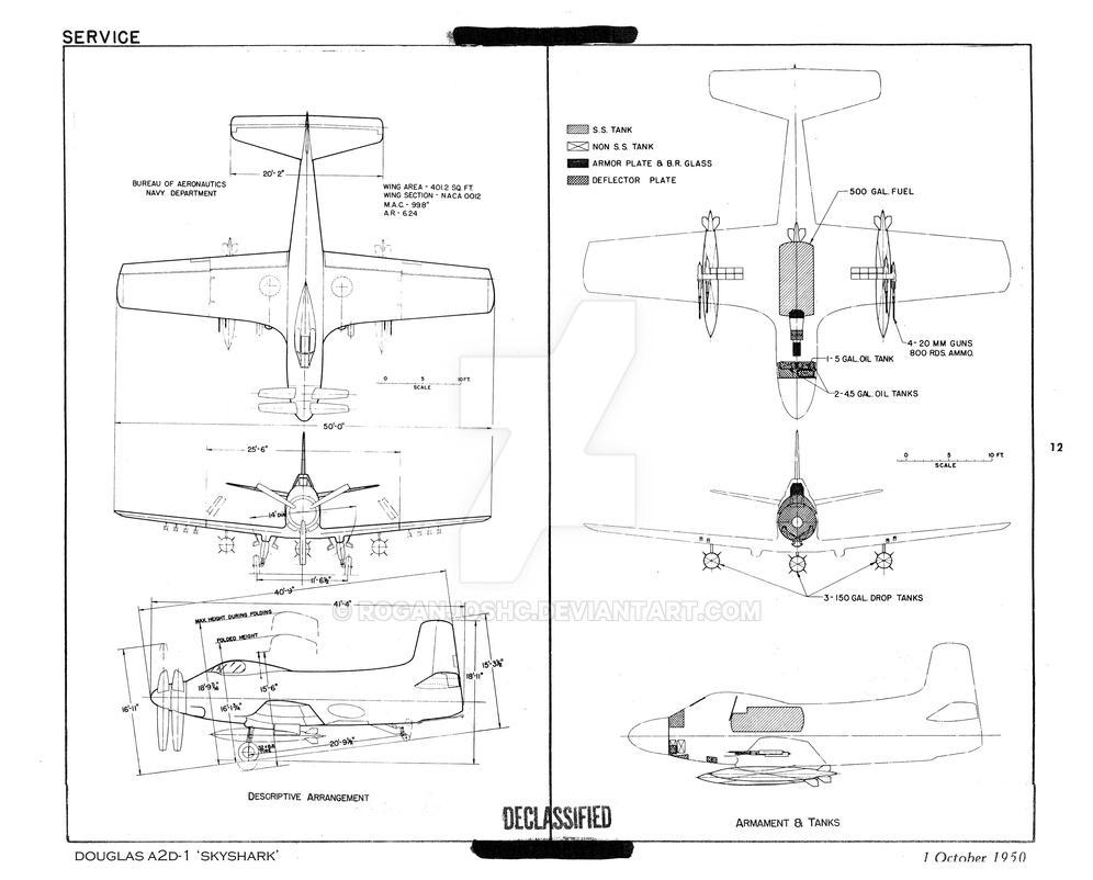 Douglas A2d 1 Skyshark Schematic By Roganjoshc On Deviantart Oil Tank