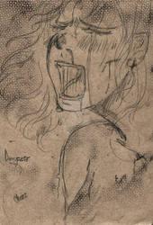 Practice! Drawing intense feelings 01 : Despair.