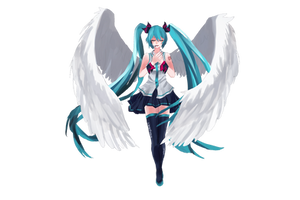 The Angel in Miku (no BG) by crazylame1